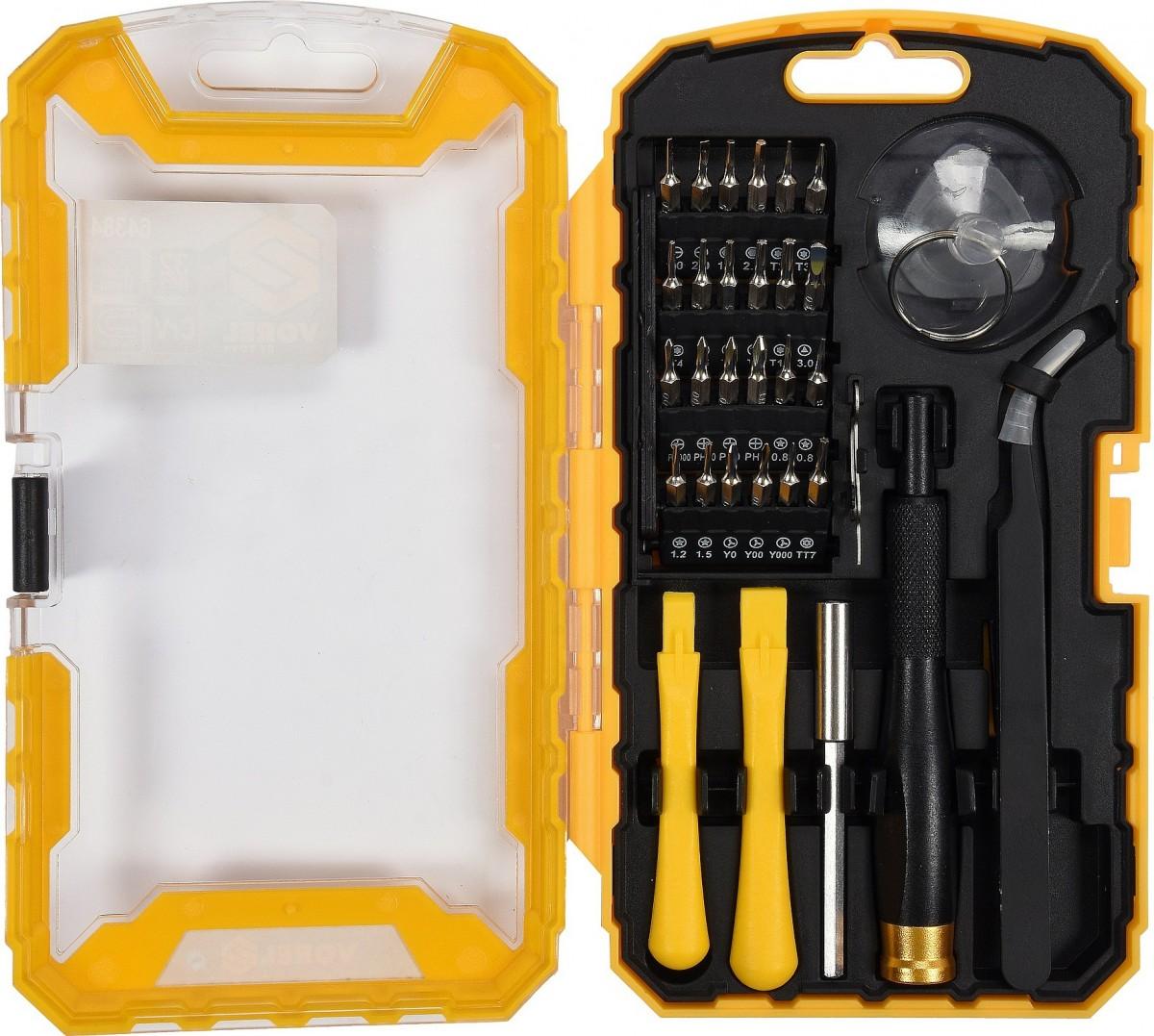 Šroubovák s nástavci a nástroji pro mobilní telefony sada 32ks TO-64384