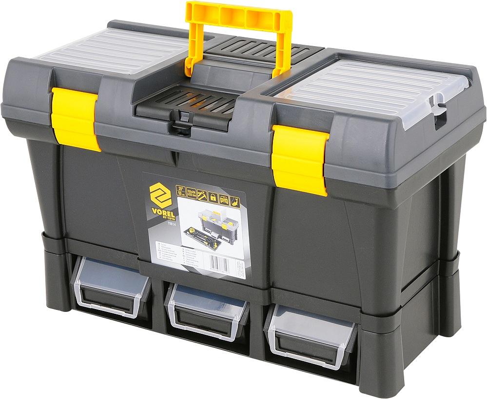 """Kufr na nářadí plastový 20"""" + 3x zásuvka"""