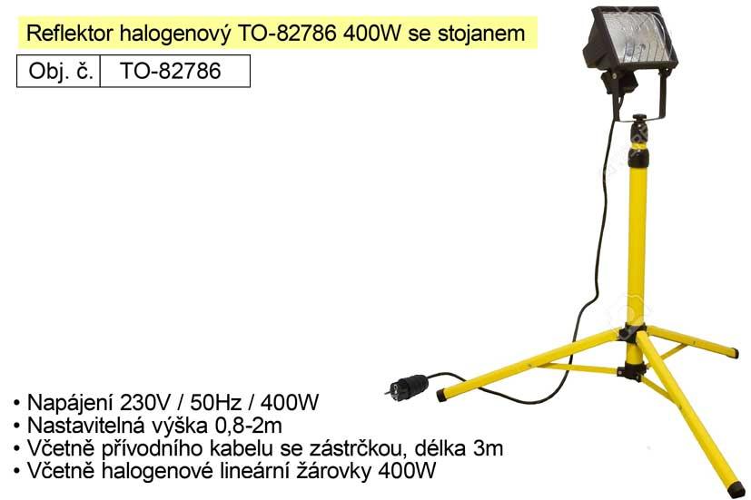 Reflektor halogenový TO-82786 400W se stojanem Tripod