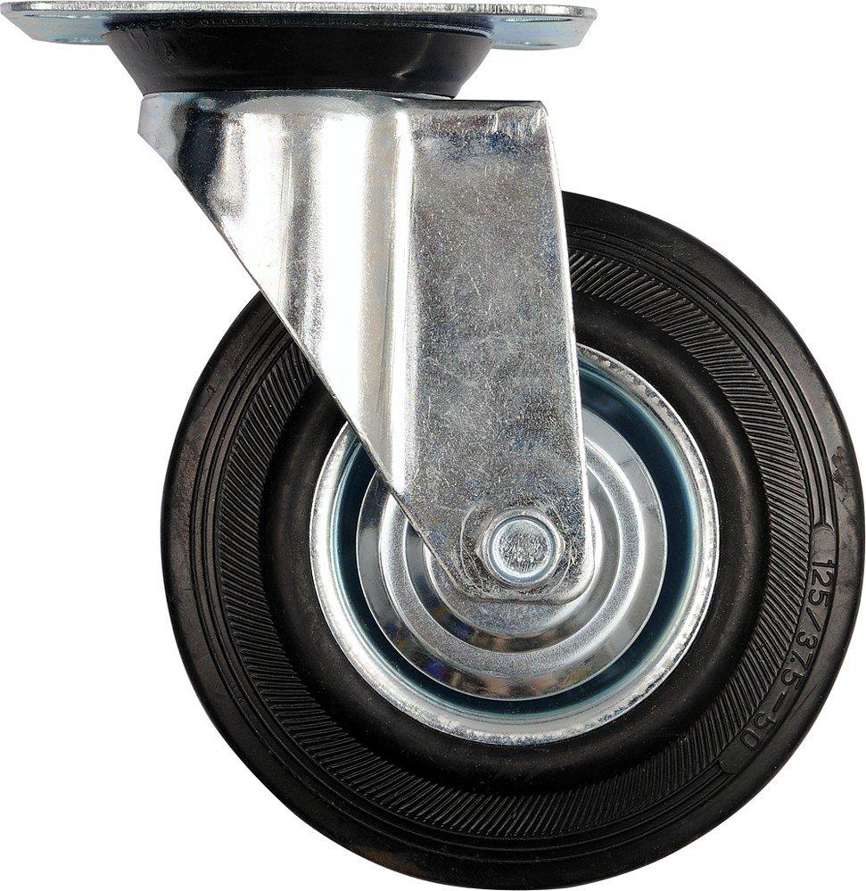 Kolečko otočné, gumové 60kg 100/27/130mm