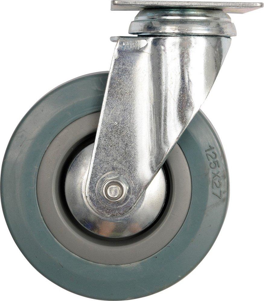 Kolečko otočné, gumové 45kg 100/26/134mm