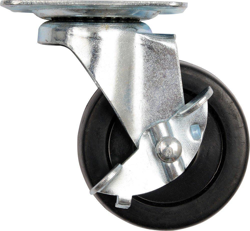 Kolečko otočné, polypropylenové s brzdou 25kg 50/22/65mm