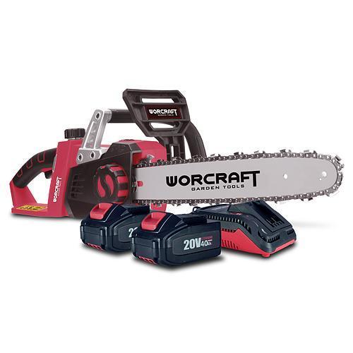 Aku řetězová pila 35cm Worcraft (S20Li) CGC-S40Li SET 2x20V/4.0Ah + nabíječka TR111138