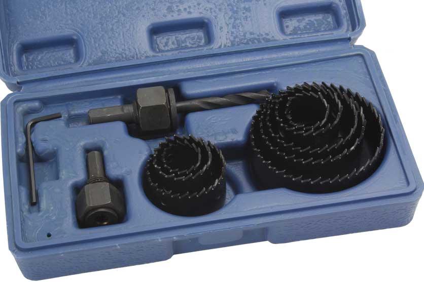 Vrtáky vyřezávací miskové sada 11 dílů 19-64mm Strend Pro 212040 (TO-22570) Nářadí 0.48Kg TR212040