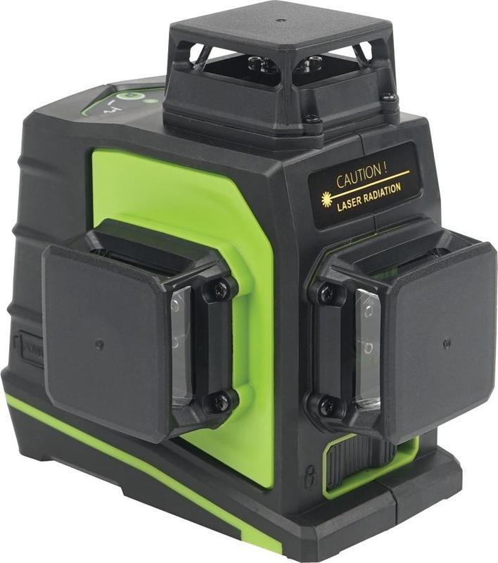 Křížový laser 3D 360° zelený paprsek, samonivelační STREND PRO INDUSTRIAL GF360G 30m/50m