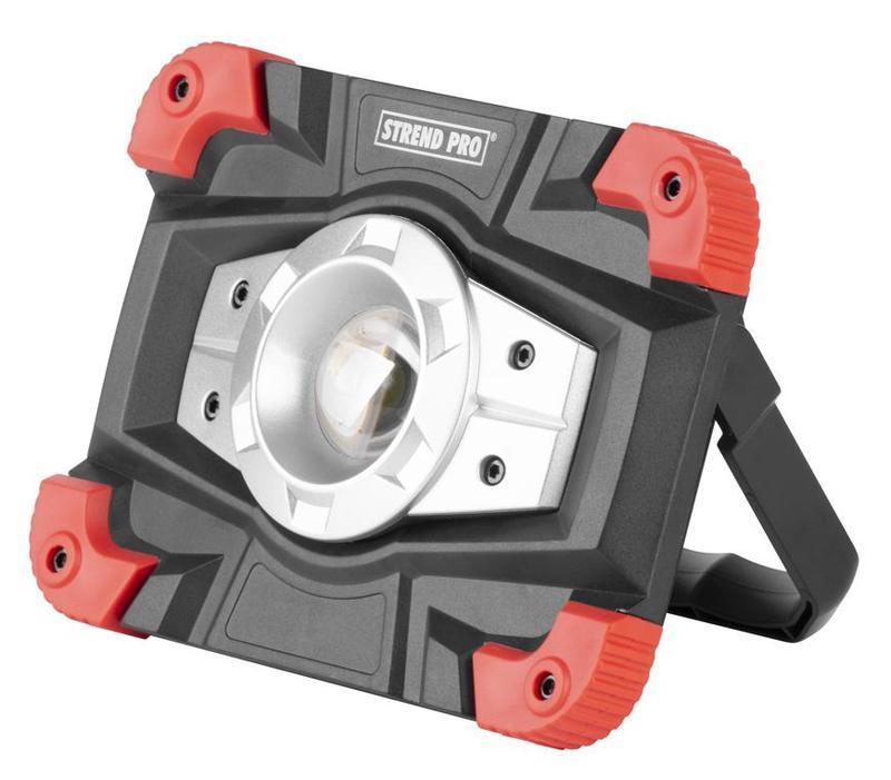 STREND PRO Aku světlo, reflektor přenosný COB LED 10W/600lm s powerbankou (TR2171598)