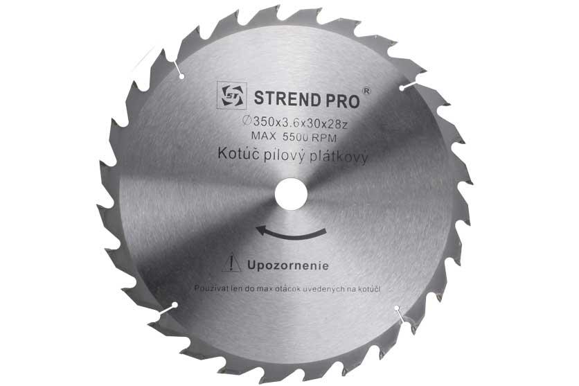Pilový kotouč s SK plátky 350x30x3,6mm 28 zubů Strend Pro