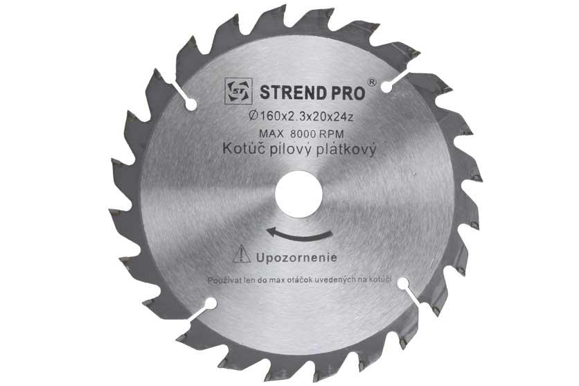Pilový kotouč s SK plátky 160x20x2,5mm 24 zubů Strend Pro