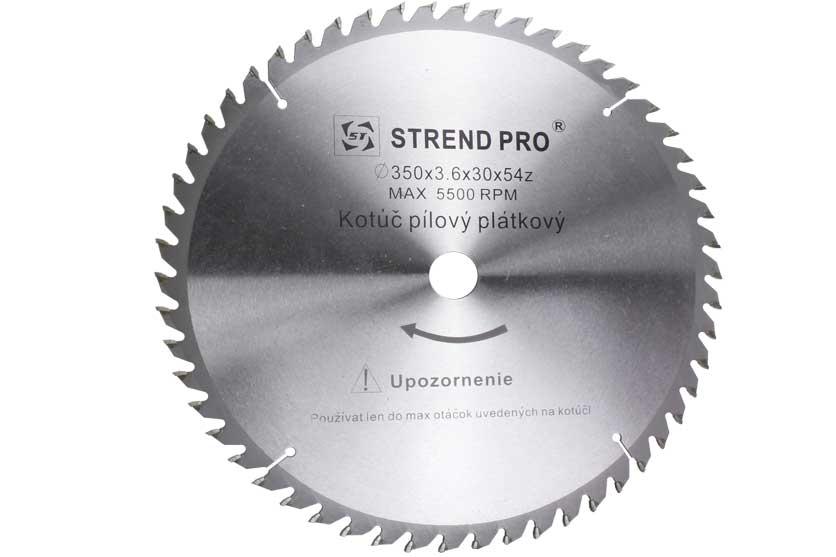 Pilový kotouč s SK plátky 350x30x3,6mm 54 zubů Strend Pro