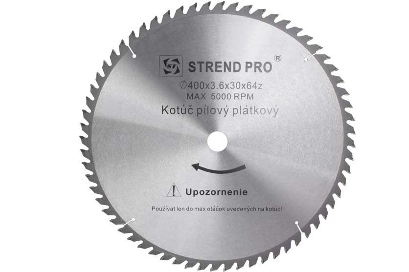 Pilový kotouč s SK plátky 400x30x3,6mm 64 zubů Strend Pro
