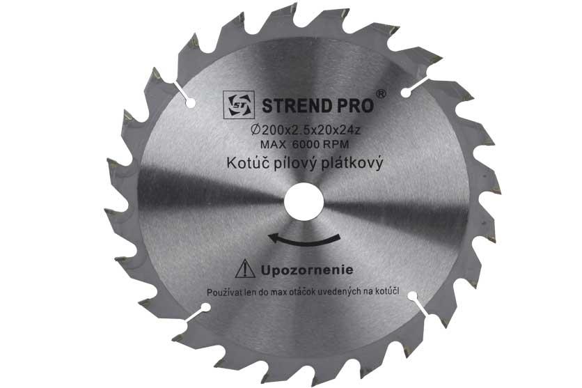 Pilový kotouč s SK plátky 200x20x2,5mm 24 zubů Strend Pro