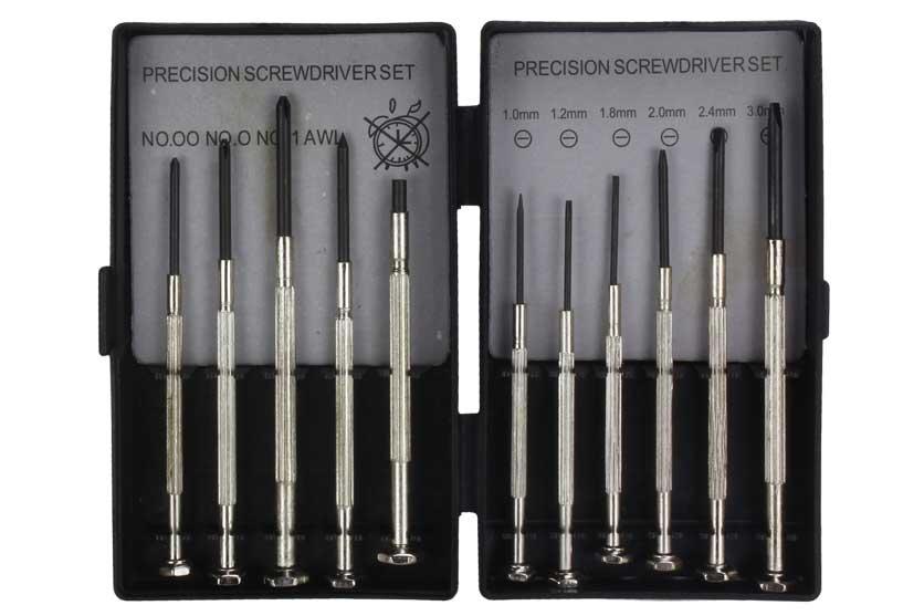 Šroubováky hodinářské kovové sada 11 kusů Strend Pro