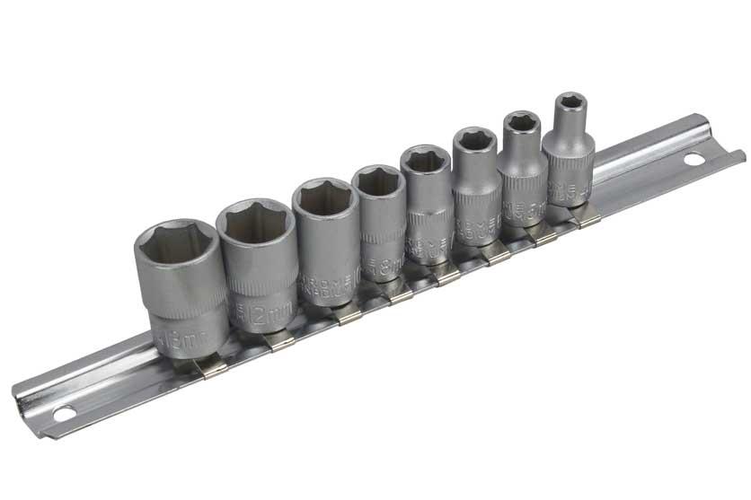 """Gola ořechy sada šestihran 1/4""""  4-13mm 8 kusů Strend Pro 232430"""