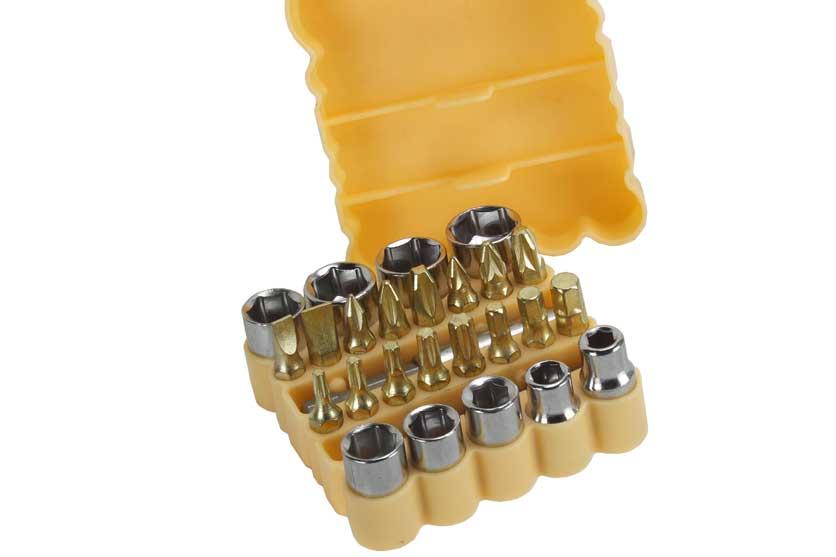 Bity, nástrčné ořechy, s magnetickým upínačem, sada 27 kusů,  Strend Pro