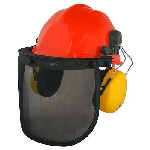 Safetyco SM-409P, ochranný štít, přilba,helma a chránič sluchu