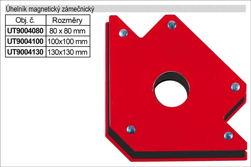 Úhelník magnetický  80x80mm UT9004080