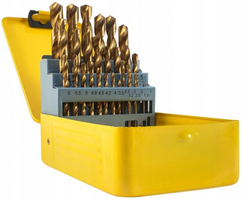 DEGET Vrtáky do kovu HSS 1-13mm sada 25 kusů v plechové kazetě V05071