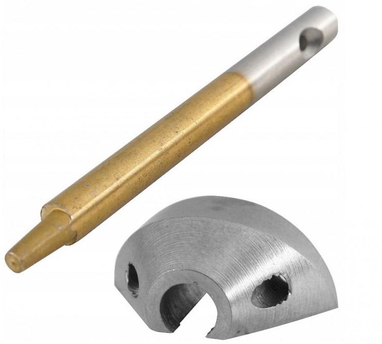 VERKE Náhradní matrice a razník pro elektrické nůžky na plech V08183