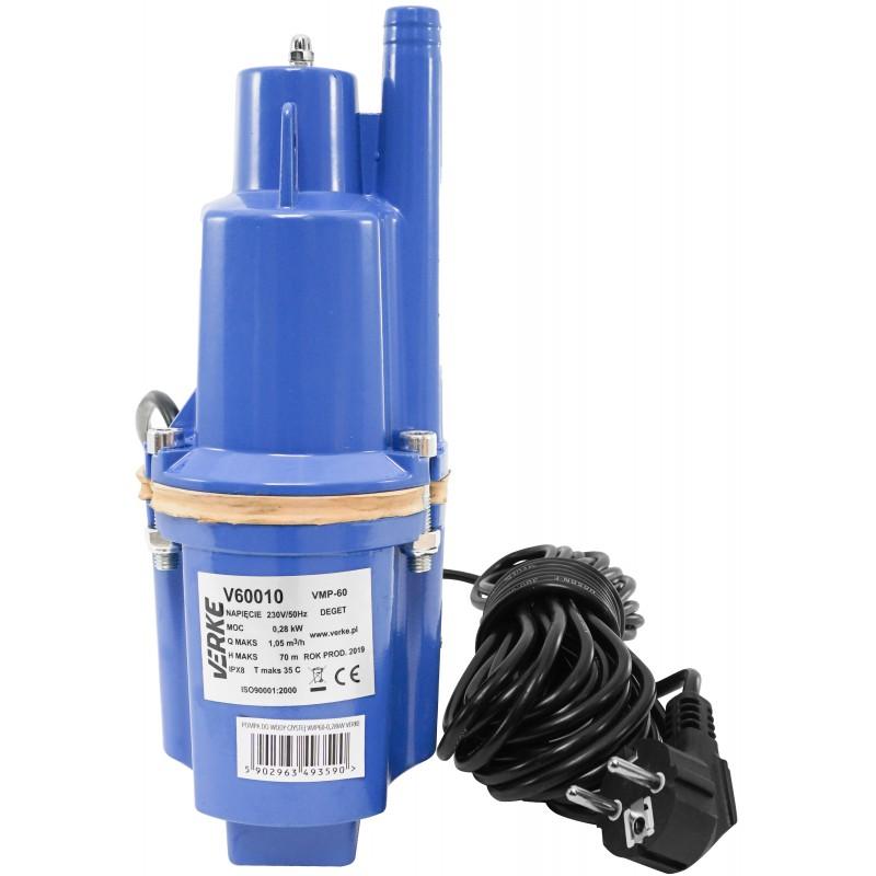 VERKE Čerpadlo na vodu, vibrační membránové hlubinné 280W, max výtlak 70m V60010