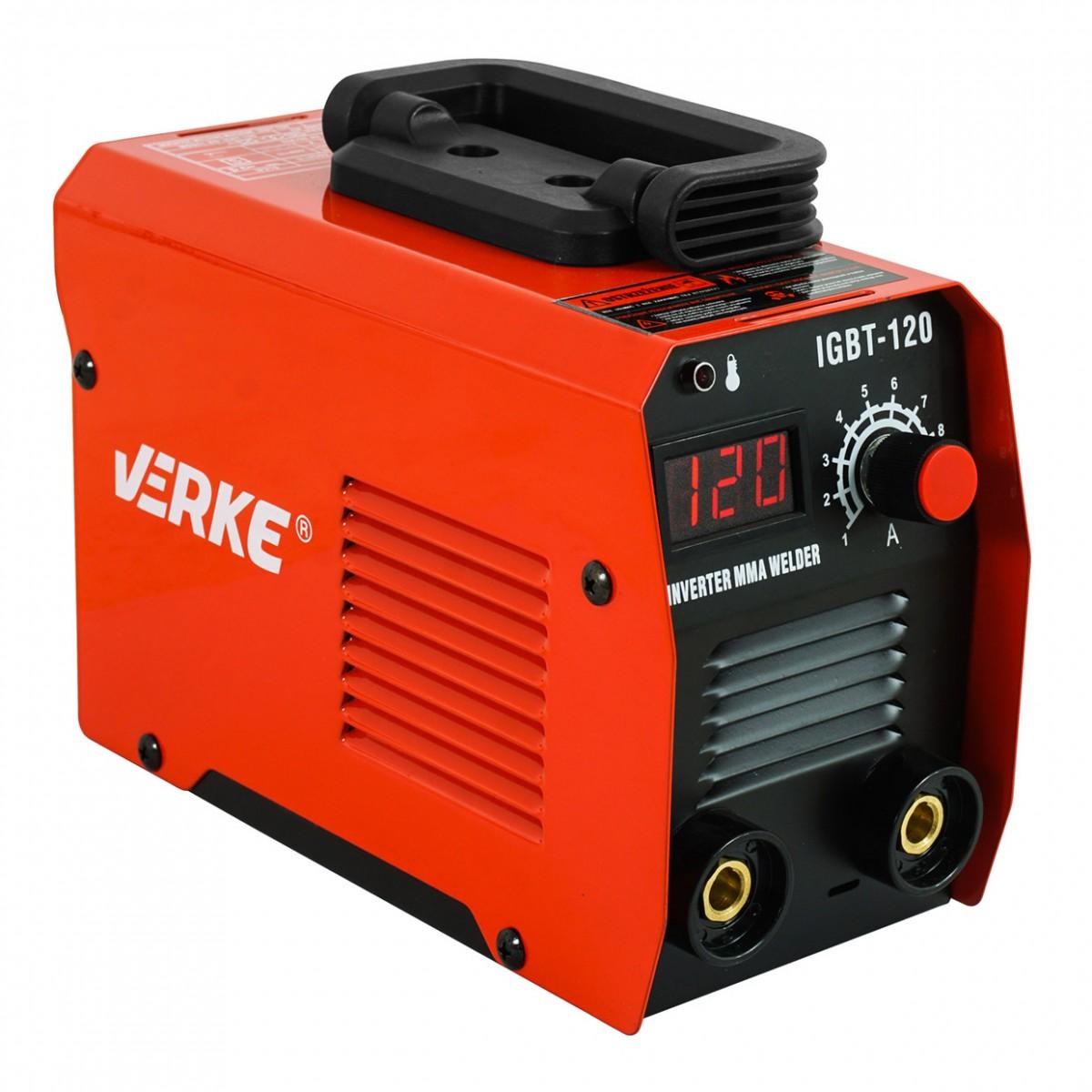 VERKE Invertorová svářečka IGBT-120 MMA V75006 Nářadí 3.5Kg V75006