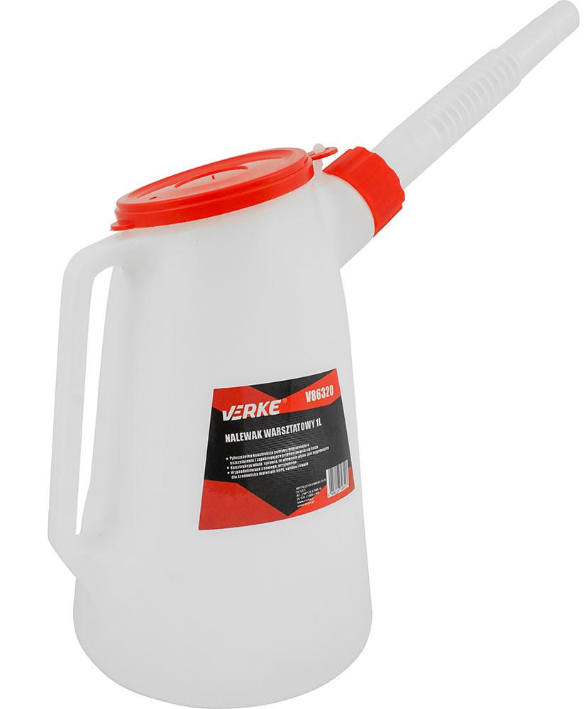 VERKE Nálevka na olej a technické kapaliny 1L