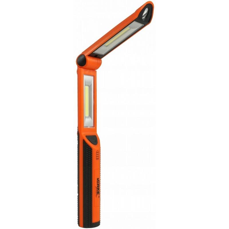 VERKE PREMIUM Aku svítilna pracovní 2x3W COB + 1W, nabíjecí USB V87519 Nářadí 0.4Kg V87519