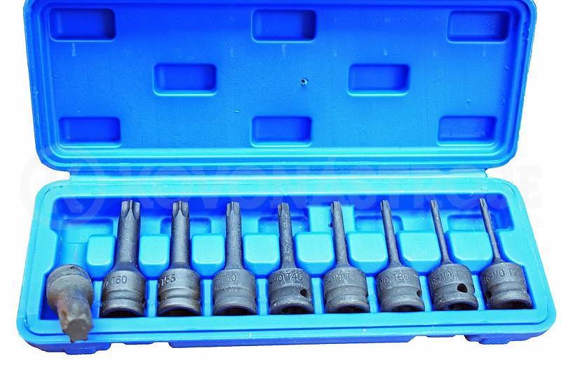 Zástrčné hlavice torx kované sada 8 kusů T20-T70