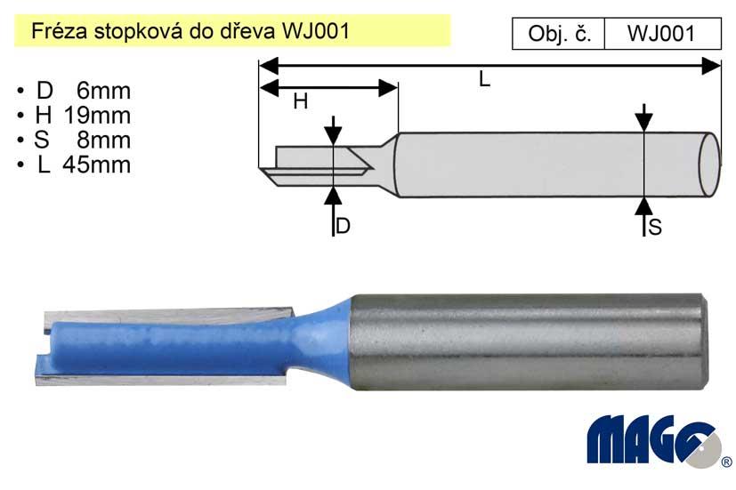Fréza stopková do dřeva WJ001