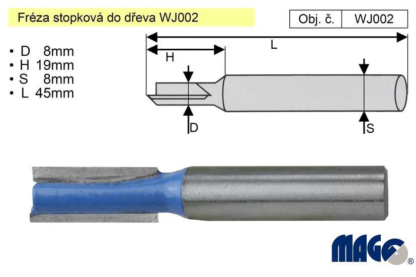 Fréza stopková do dřeva WJ002