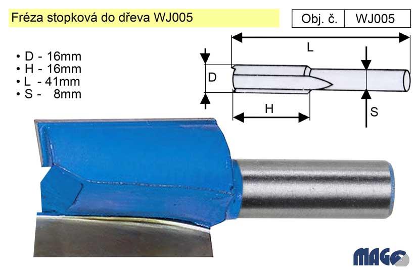 Fréza stopková do dřeva WJ005
