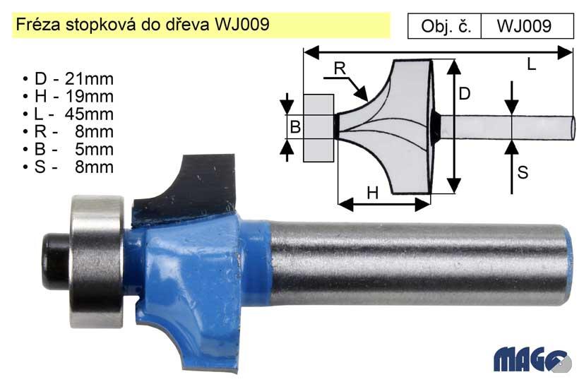 Fréza stopková do dřeva WJ009