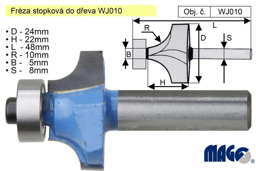Fréza stopková do dřeva WJ010