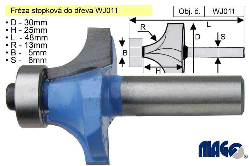 Fréza stopková do dřeva WJ011