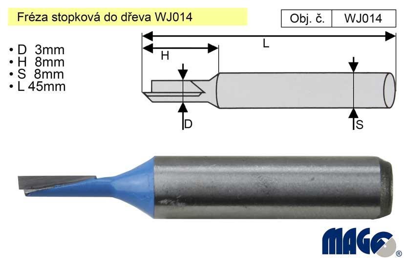 Fréza stopková do dřeva WJ014