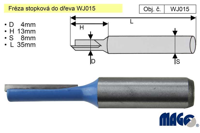 Fréza stopková do dřeva WJ015