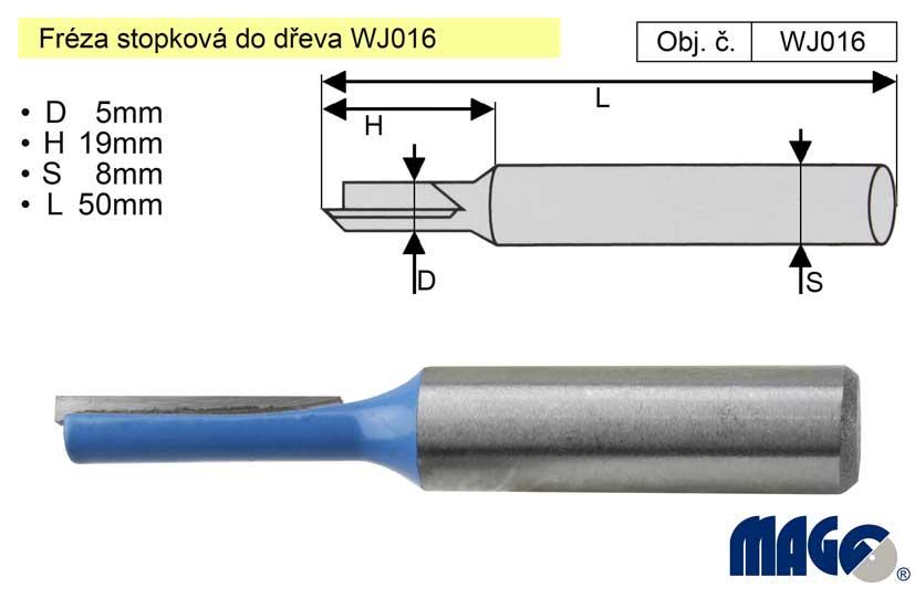 Fréza stopková do dřeva WJ016