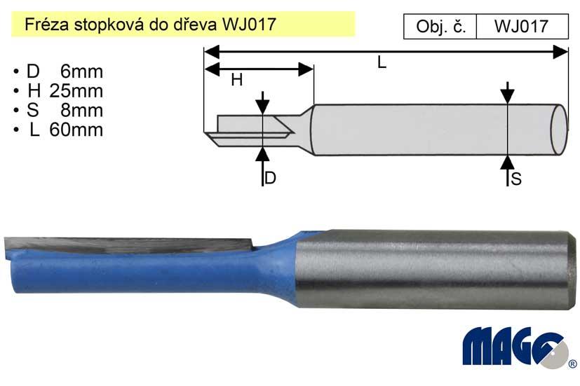 Fréza stopková do dřeva WJ017