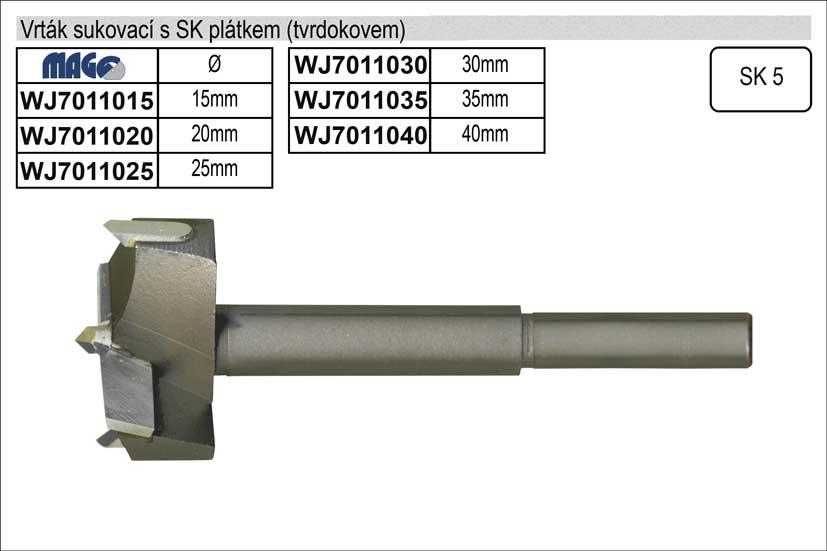 Vrták sukovací vidiový 20mm Nářadí 0.075Kg WJ7011020
