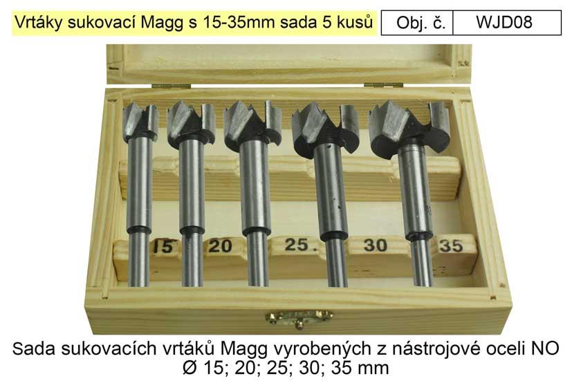 Vrtáky sukovací Magg s 15-35mm sada 5 kusů