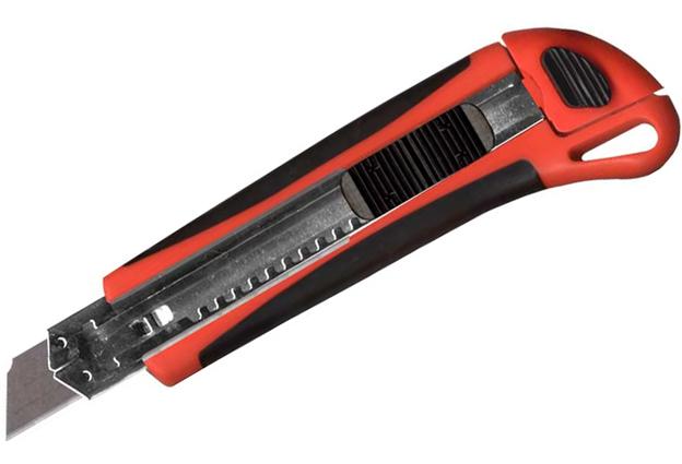 Nůž ulamovací MAGG 18mm se zásobníkem 3 kusů náhradních čepelí