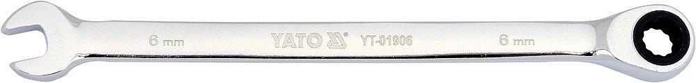 Klíč očkoplochý ráčnový 6 mm Nářadí 0.05Kg YT-01906