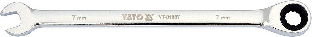 Klíč očkoplochý ráčnový 7 mm Nářadí 0.055Kg YT-01907