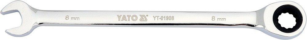 Klíč očkoplochý ráčnový 8 mm Nářadí 0.06Kg YT-01908