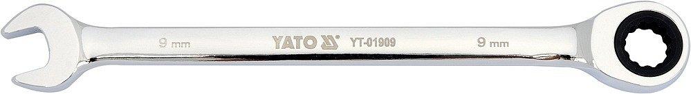 Klíč očkoplochý ráčnový 9 mm Nářadí 0.075Kg YT-01909