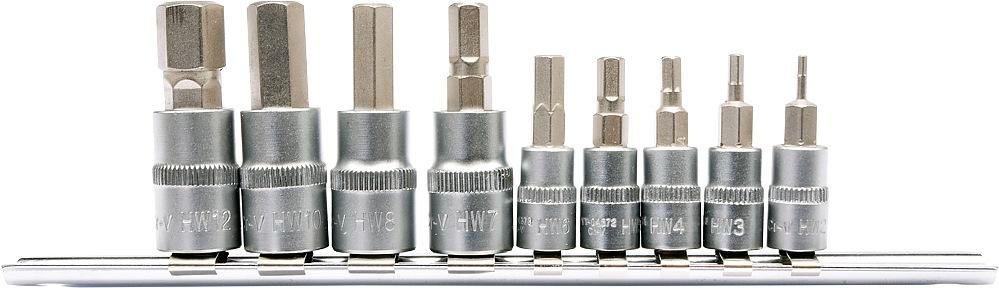 YATO Sada gola ořechů 3/8 a 1/4 s bity inbus imus HEX 2-12mm