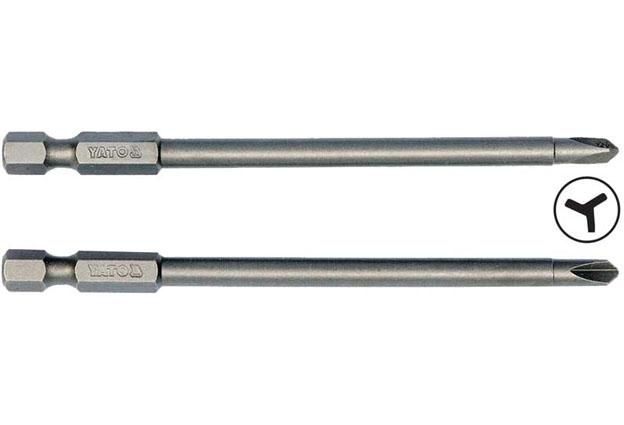 """Bezpečnostní bity, Tri-Wing, # 2, # 4, 1/4"""" , délky 100 mm, Yato Nářadí 0.065Kg YT-0497"""