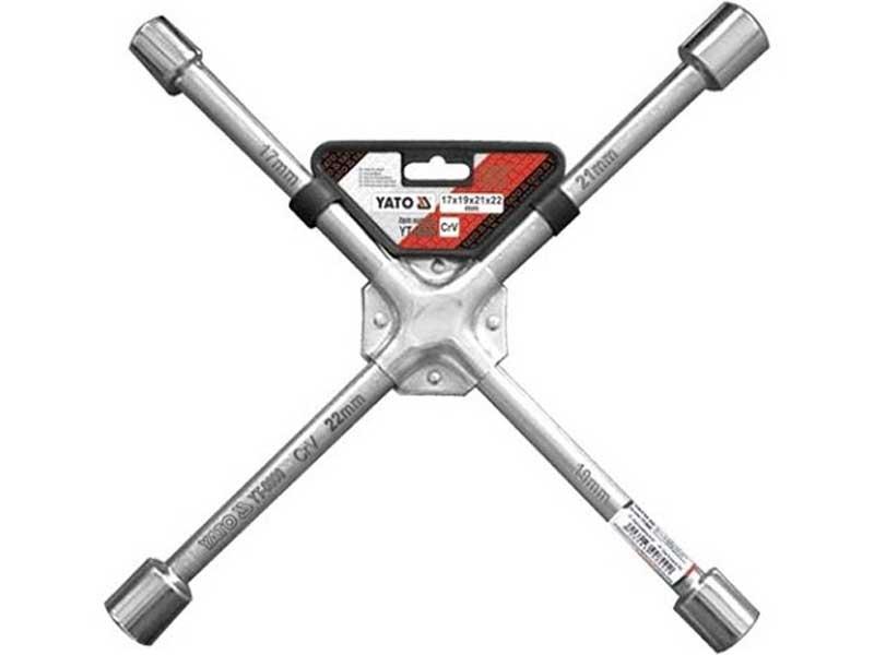 Klíč na kola křížový 17-19-21-22 mm YATO