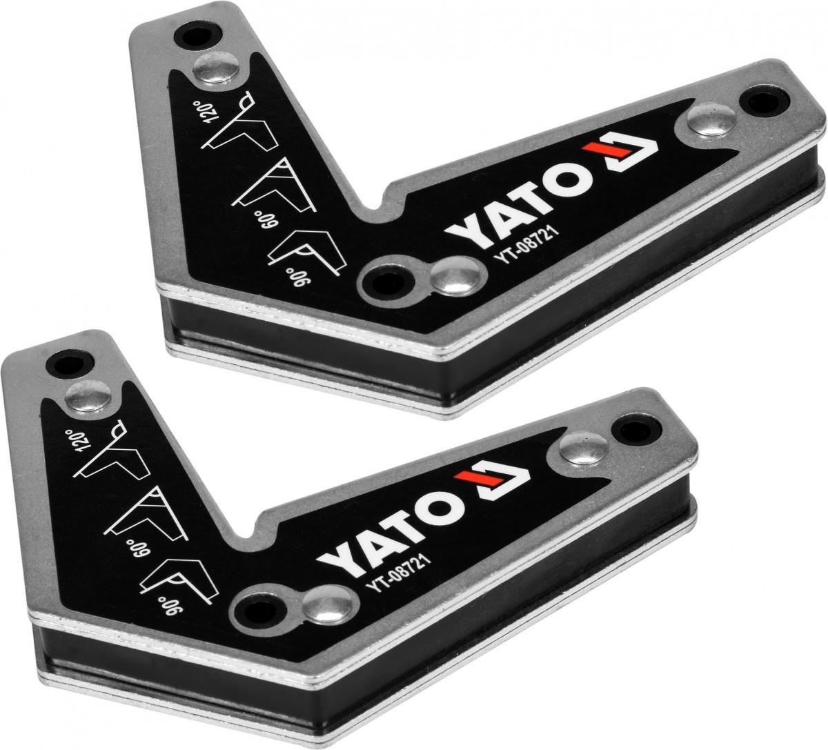 YATO Magnetické držáky svářečské sada 2ks síla 10kg 120° 90° 60°Kg YT-08721