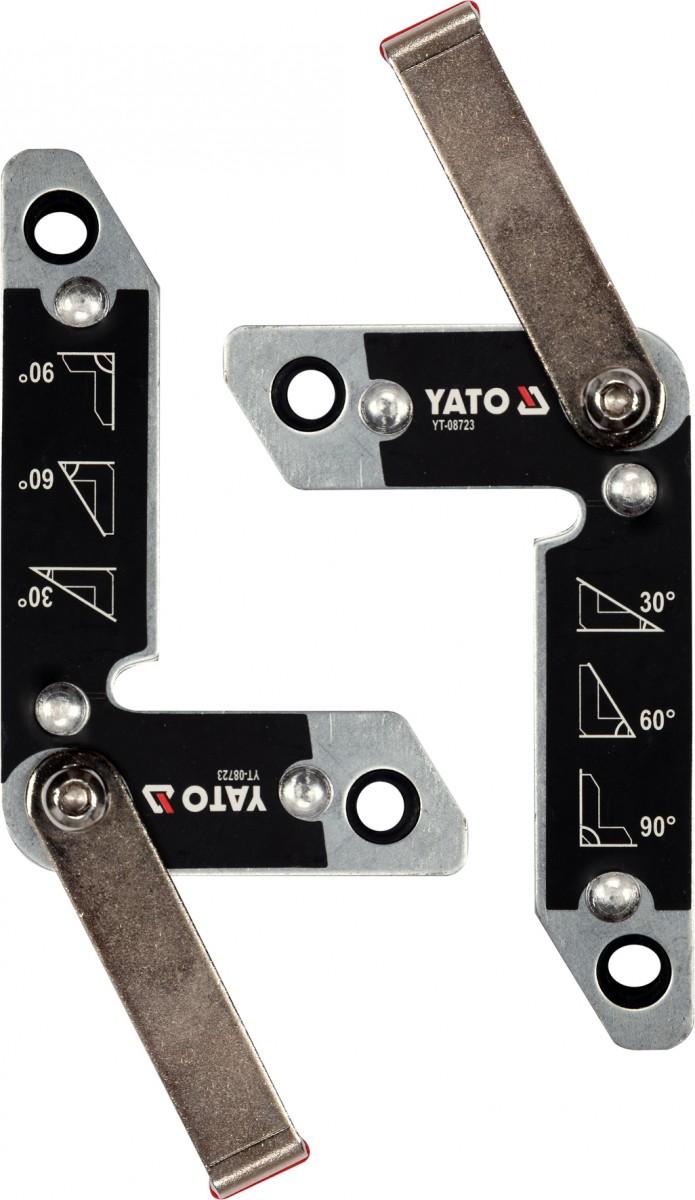 YATO Magnetické držáky svářečské sada 2ks síla 32kg