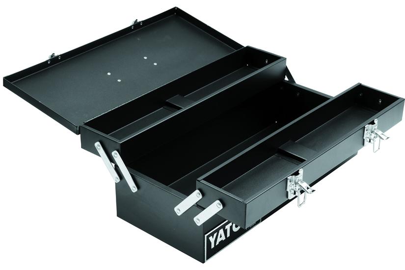 Kufr na nářadí kovový 46 x 20 x 18 cm 3-komorový Yato